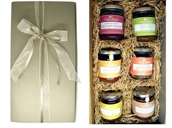 confezione regalo 6 confetture colazione
