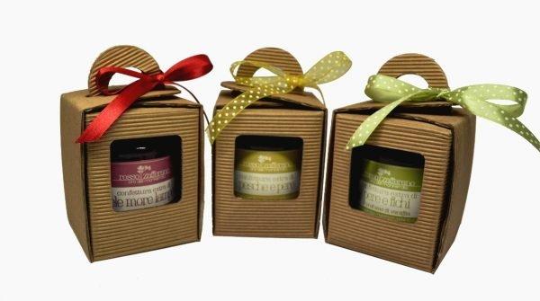 confezione regalo scatola confettura