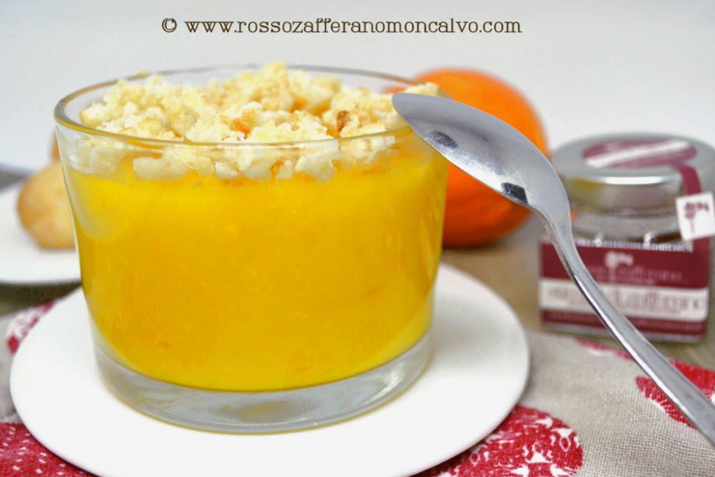 crema zafferano arancia e amaretti